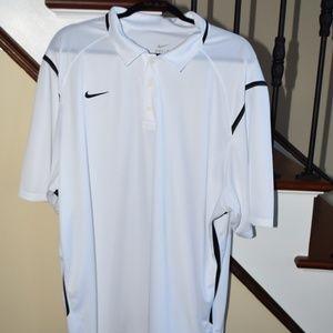 Mens Nike White with Black Trim Polo XXL
